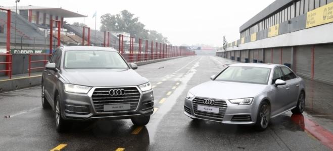 Presentación y contacto con los nuevos vehículos de Audi Argentina, el sedán A4 y el SUV Q7